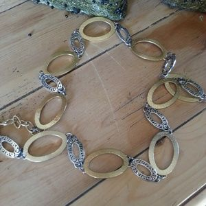 Brighton Silver and Gold Adjustable Belt